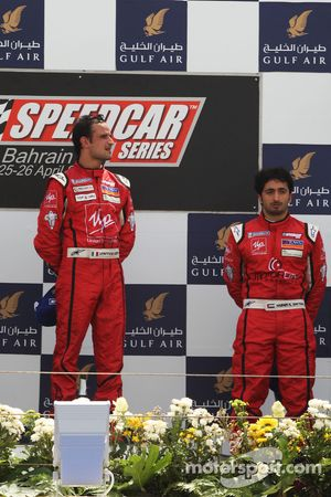 Podium: Vitantonio Liuzzi, UP Team, vainqueur ; Hasher Al Maktoum, UP Team, troisième