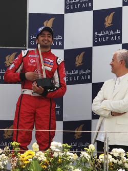 Hasher Al Maktoum, UP Team, fête sa troisième place sur le podium