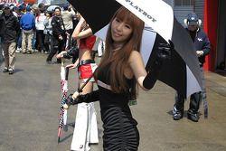 A charming LCR Honda MotoGP Team girl