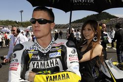 James Toseland, Monster Yamaha Tech 3 avec la demoiselle au parapluie