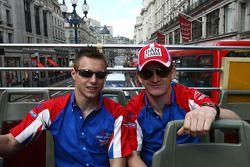 Aaron Steele, rookie en A1 GP (Grande Bretagne) et Dan Clarke (Grande Bretagne)