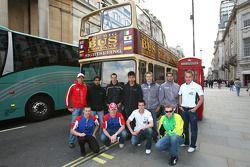 A1GP Drivers take a tour of London