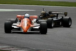 #23 Abba Kogan (BR) Arrows A3/4, Hall & Hall (1980); #11 Dan Collins (GB) Lotus 91-10, Classic Team Lotus (1982)