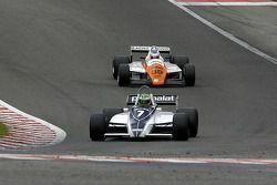 #7 Joaquin Folch (E) Brabham BT49C-10, Kumschick Racing (1982); #39 Andy Meyrick (GB) Arrows A5-1, AMR Racing (1982)