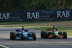 Narain Karthikeyan, driver of A1 Team India and Filipe Albuquerque, driver of A1 Team Portugal