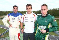 Le Top 3 de l'A1GP, Neel Jani (Suisse), Filipe Albuquerque (Portugal) et Adam Carroll (Irlande)