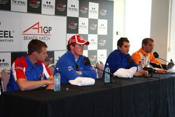 Dan Clarke, driver of A1 Team Great Britain press conference