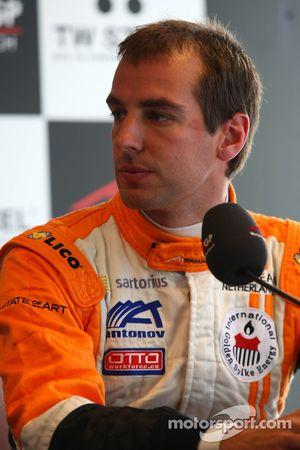Jeroen Bleekemolen, driver of A1 Team Netherlands press confrerence