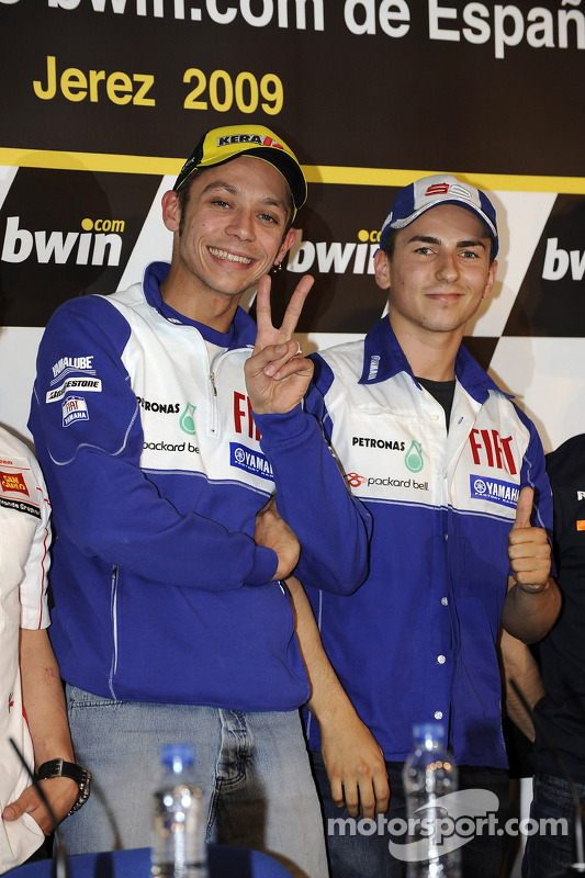 Conferencia de prensa: Valentino Rossi, Fiat Yamaha Team y Jorge Lorenzo, Fiat Yamaha Team