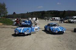 #280 Alpine Renault A 110 1800 Gr. IV 1973: Dubail, Audemars Piguet Racing Team; #75 Alpine Renault A 110 1800 Gr. IV 1970: Terrat, Montagne