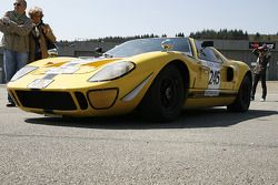 #245 Ford GT 40 1965: Stahl, Niermann: this car was rebuild from the wreckage of Willy Mairesse's terrible accident at Le Mans in 1968