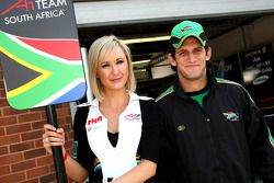 Grid girl and Cristiano Morgado, driver of A1 Team South Africa