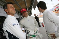Roberto Ravaglia, ITA, Team Manager, BMW Team Italy-Spain, Alex Zanardi, BMW Team Italy-Spain et Sergio Hernandez, BMW Team Italy-Spain