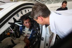 Alex Zanardi, BMW Team Italy-Spain et Roberto Ravaglia, ITA, Team Manager de BMW Italy-Spain