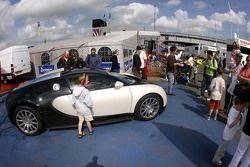 A Bugatti Veyron in the paddock