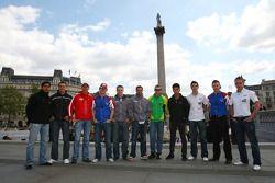 Les pilotes d'A1GP visitent Londres
