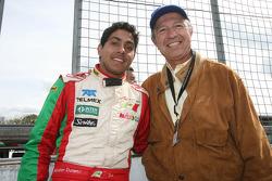 Salvador Durán, piloto del A1 Team México y Joe Ramírez