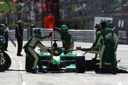 Adam Carroll, driver of A1 Team Ireland pit stop