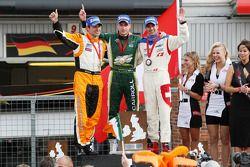 Jeroen Bleekemolen (Pays-Bas), Adam Carroll (Irlande) et Neel Jani (Suisse)