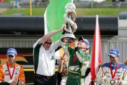 Mark Gallagher, Adam Carroll, driver of A1 Team Ireland