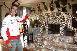 Alex De Angelis, San Carlo Honda Gresini, visits a ranch in Southern Spain