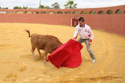 Alex De Angelis, San Carlo Honda Gresini visits a bullring