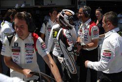 Fourth place Randy De Puniet, LCR Honda MotoGP celebrates