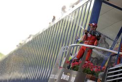 Podium: third place Casey Stoner, Ducati Marlboro Team sprays champagne