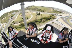 Mika Kallio, Pramac Racing, Niccolo Canepa, Pramac Racing play poker high above the track