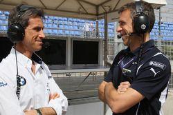 Roberto Ravaglia, ITA, Team Manager, BMW Team Italy-Spain and Bart Mampaey, Team Manager Team UK