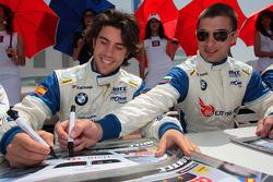 Felix Porteiro, Scuderia Proteam Motorsport et George Tanev, Scuderia Proteam Motorsport lors de la séance d'autographes