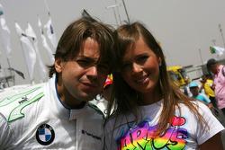 Augusto Farfus, BMW Team Germany avec sa femme Liri