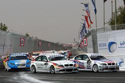 Jorg Muller, BMW Team Germany, BMW 320si et Franz Engstler, Liqui Moly Team Engstler, BMW 320si