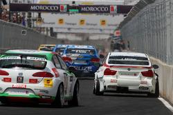 Jorg Muller, BMW Team Germany, BMW 320si et Mehdi Bennani, Exagon Engineering, Seat Leon 2.0