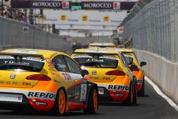 Tiago Monteiro, Seat Sport, Seat Leon 2.0 TDI et Jordi Gene, Seat Sport, Seat Leon 2.0 TDI