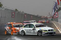 Augusto Farfus, BMW Team Germany, BMW 320si et Tom Coronel, SUNRED Engineering, Seat Leon 2.0 TFSI