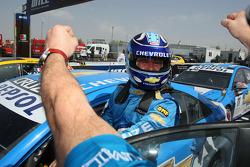 Nicola Larini, Chevrolet, Chevrolet Cruze wins his first WTCC race