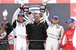 GT2 podium: class winners Emmanuel Collard and Richard Westbrook