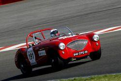 L'Austin Healey 100 M 1954 N°191 : Friscia (I), Boedt (B)