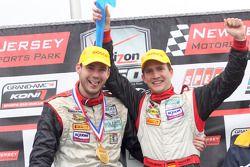 Podium GT : vainqueurs de la catégorie, Leh Keen et Dirk Werner