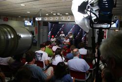 FIA press conference: Lewis Hamilton, McLaren Mercedes, Nick Heidfeld, BMW Sauber F1 Team, Fernando Alonso, Renault F1 Team and Giancarlo Fisichella, Force India F1 Team