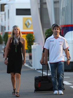 Timo Glock, Toyota F1 Team with his girlfriend Isabell Reis