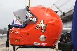 Casque d'A.J. Foyt IV rendant hommage à son grand père et quadruple vainqueur de l'Indy 500 A.J. Foyt