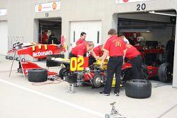 Les membres de l'équipe Newman/Haas/Lanigan Racing