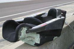 Ernesto Viso, HVM Racing, assis sur le mur des stands