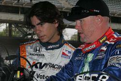 Mario Moraes, KV Racing Technology et Paul Tracy, KV Racing Technology