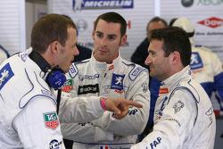 Alexander Wurz, Simon Pagenaud and Nicolas Minassian