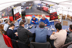 Bruno Senna and Hughes de Chaunac meet members of the press