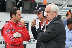 Helio Castroneves, Penske Racing; Rick Mears, and Roger Penske