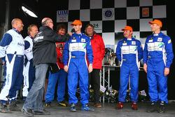 Deuxième Team Vauban Humanis N°8 classe 3 : Christophe Boyard, Xavier Savin, Christophe Poulain